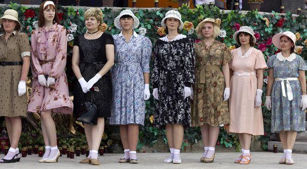 как одевались в 40 годах фото